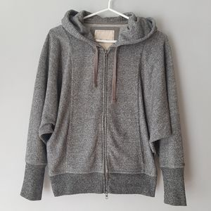 Roots salt and pepper zip up hoodie